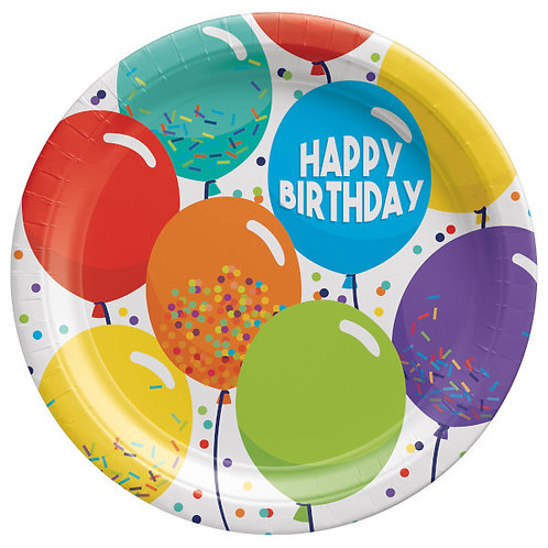 Birthday Celebration 9in Round Plates 60ct