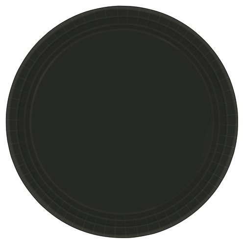 Black 10in Paper Plates 20ct
