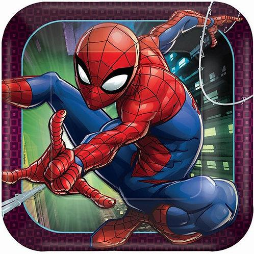 Spider-Man Webbed Wonder Lunch Plates 8ct