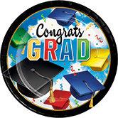 Grad Celebration 9in Plates 8ct