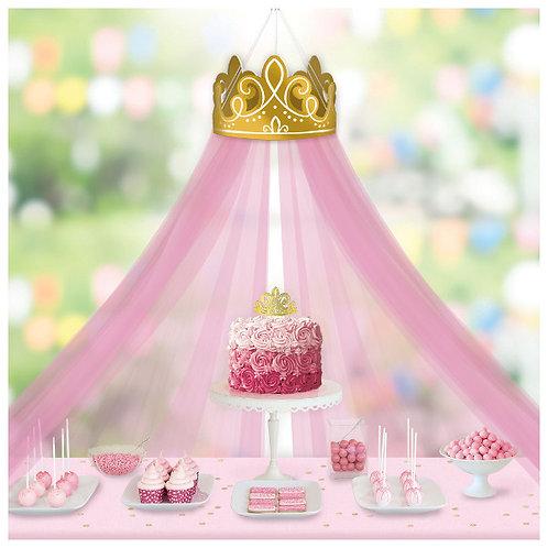 Disney Princess Crown Decoration w/ Tulle Canopy