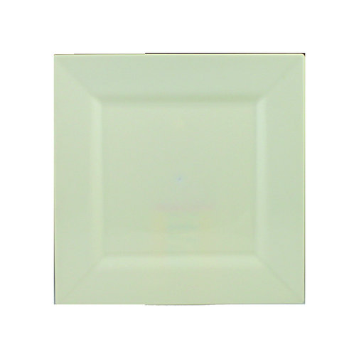 Simply Squared Ivory 8in Plastic Plates 10ct