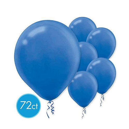Royal Blue Latex Balloons - Packaged, 72ct