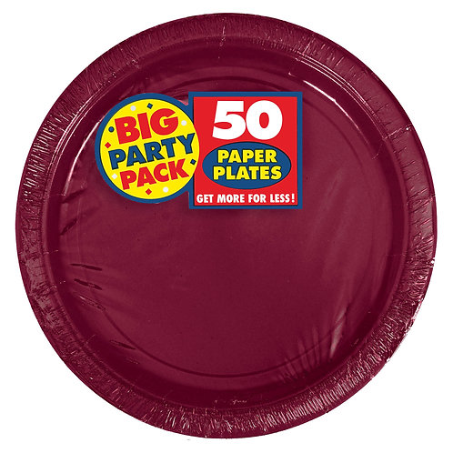 Berry 9in Paper Plates 50ct
