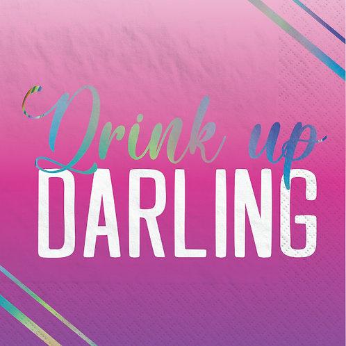Finally 21 Beverage Napkins Darling 16ct