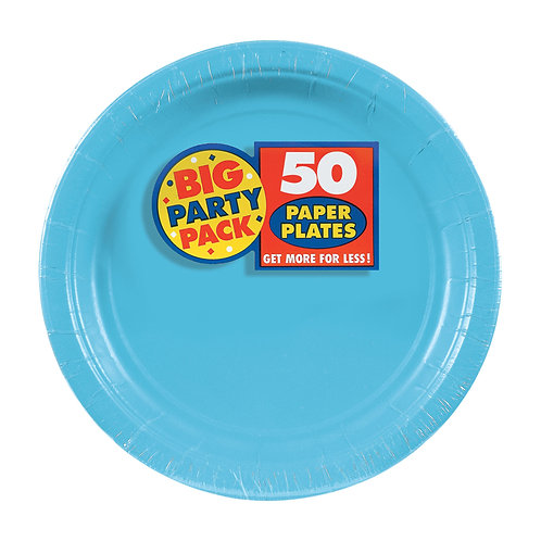 Caribbean Blue 7in Paper Plates 50ct