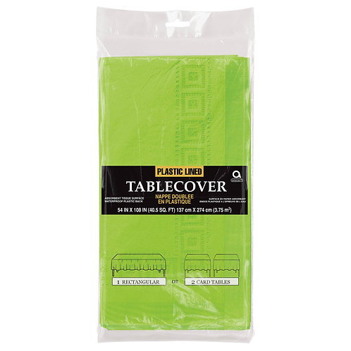 """Kiwi Green Paper Table Cover 54"""" x 108"""""""