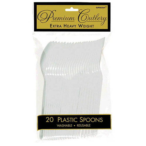 Clear Plastic Spoons 20ct