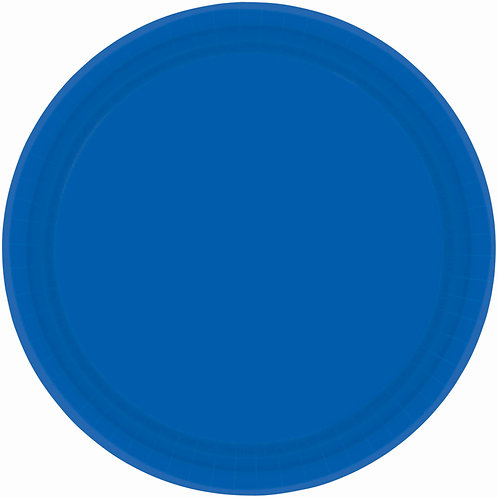 Royal Blue 9in Paper Plates 20ct