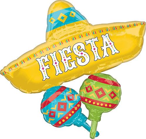 #269 Papel Picado Fiesta 32in Balloon