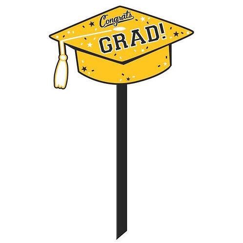 Grad Yard Sign - Yellow