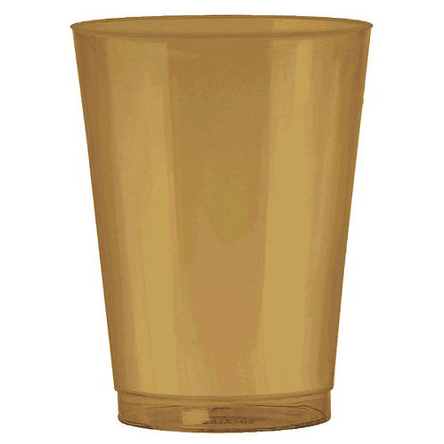 Gold 10oz Plastic Cups 72ct