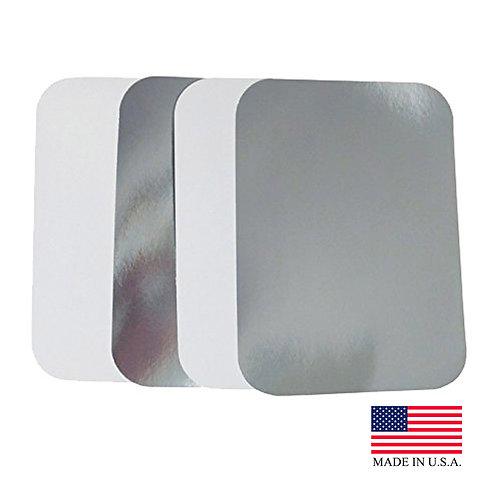 Aluminum Oblong Pan 5lb. Foil Board Lid