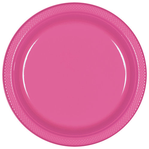 Bright Pink 9in Plastic Plates 20ct