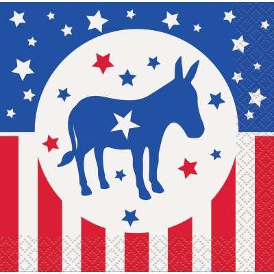 Democratic Party Beverage Napkins 16ct