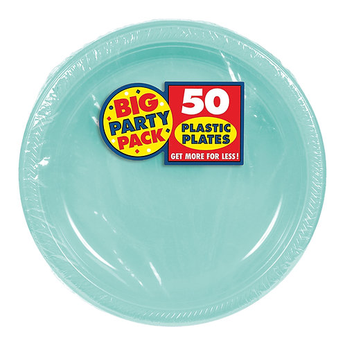 Robins Egg Blue 7in Plastic Plates 50ct