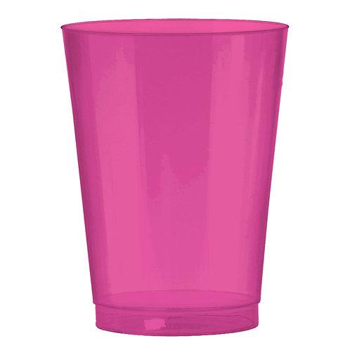 Bright Pink 10oz Plastic Cups 72ct