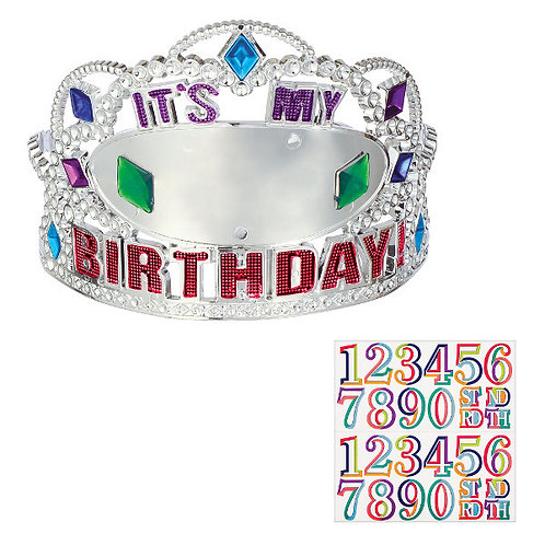 Here's to Your Birthday Add Any Age Tiara