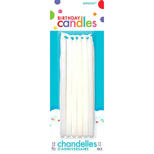White 5in Taper Candles 12ct
