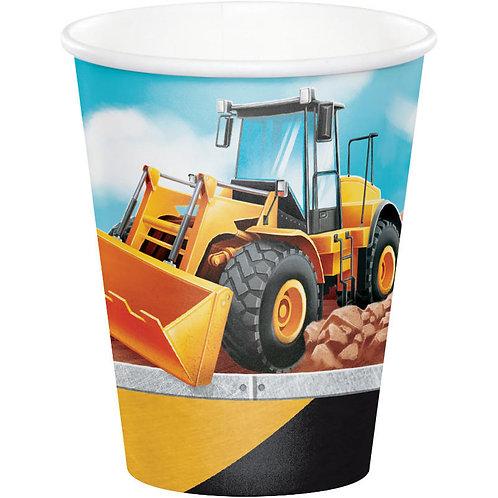 Big Dig Construction Paper Cups 8ct