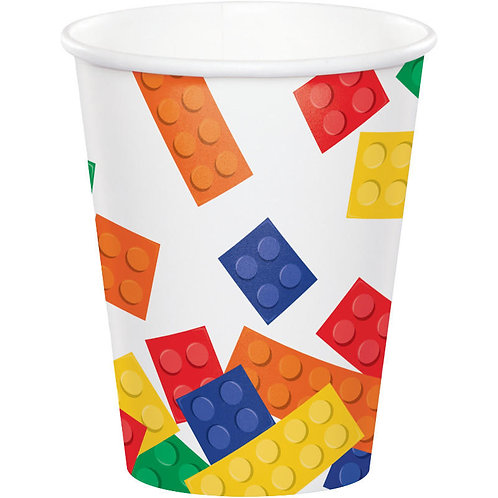 Block Party Paper Cups 8ct