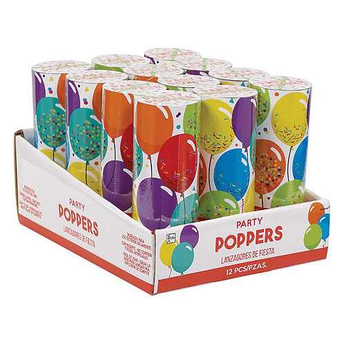 Birthday Celebration Confetti Poppers 12ct
