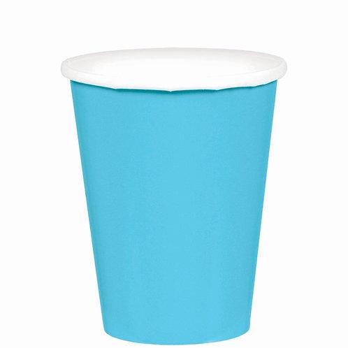 Caribbean Blue 9oz Paper Cups 20ct