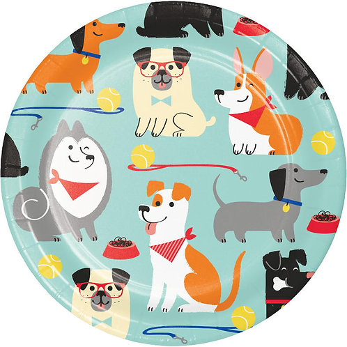 Dog Party Dessert Plates 8ct
