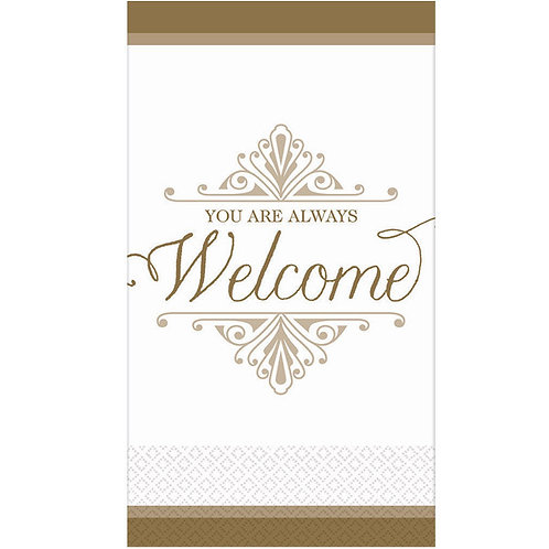 Welcome Reception Gold Premium Guest Towels 16ct