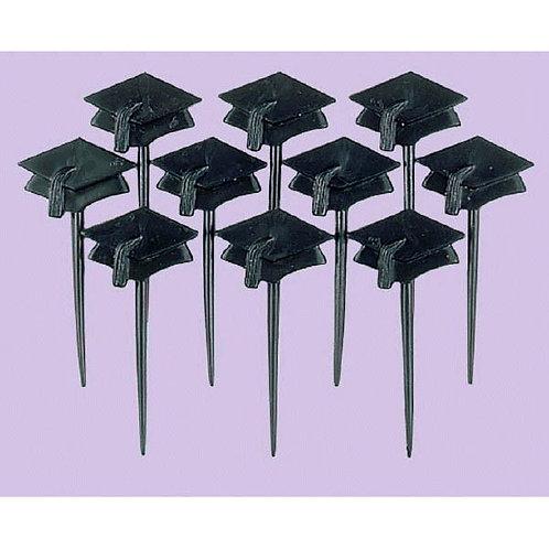Graduation Cap Plastic Picks 10ct