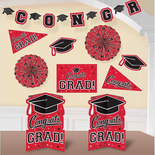 Grad Room Decorating Kit - Red