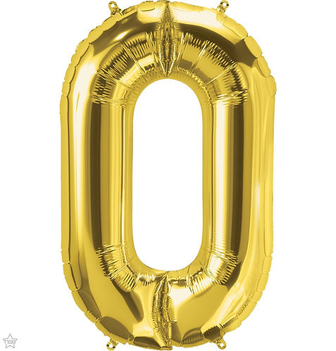 Gold 54in Number Balloon