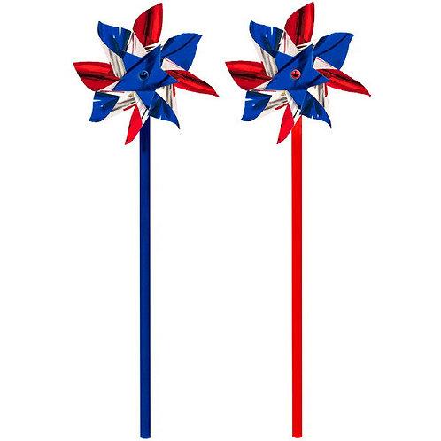"Patriotic 12.75"" Pinwheels 6ct"