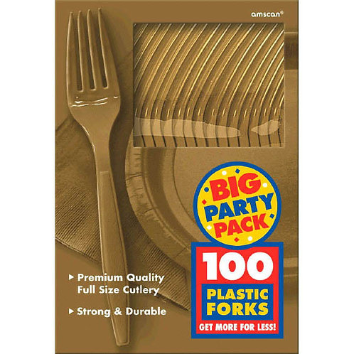 Gold Value Plastic Forks 100ct