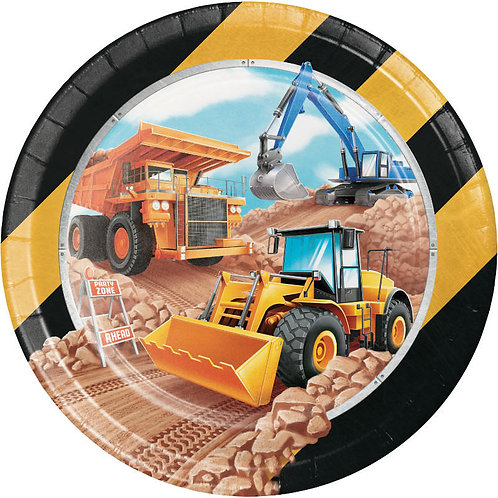 Big Dig Construction Lunch Plates 8ct