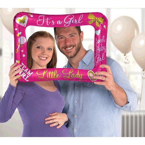 Gender Reveal  Inflatable Frame - Girl