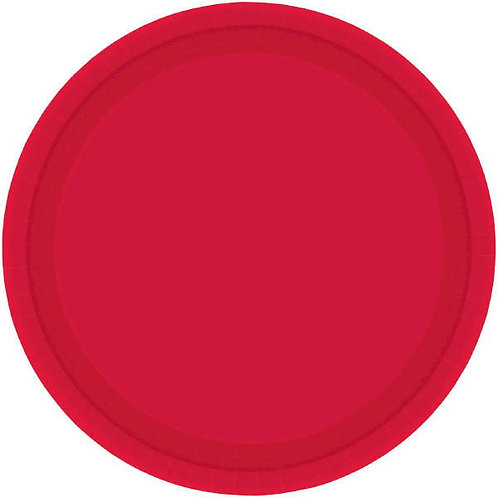 Red 10in Paper Plates 20ct