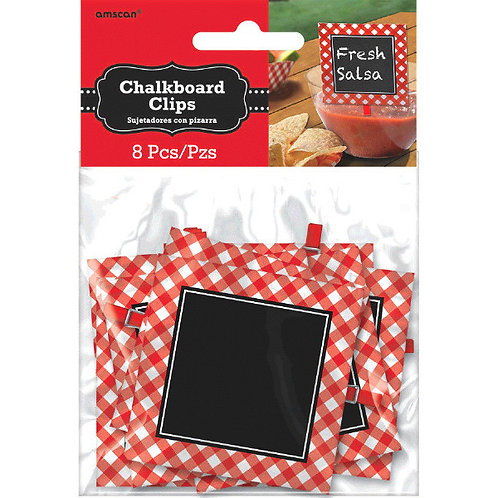 Picnic Party Chalkboard Clips