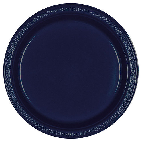 Navy Blue 7in Plastic Plates 20ct