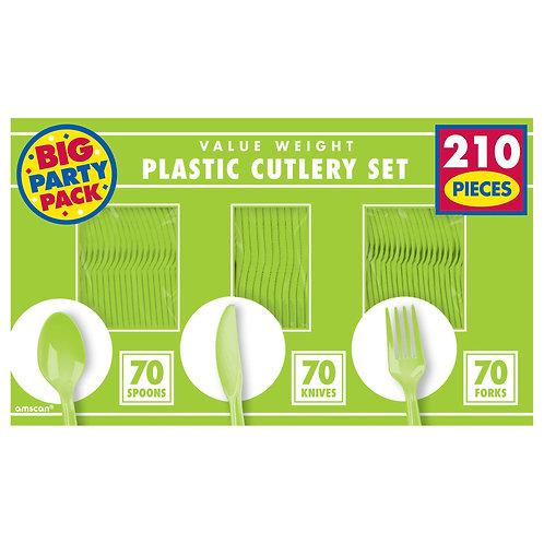 Kiwi Green Value Cutlery Set 210ct