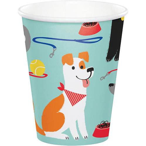 Dog Party Paper Cups 8ct