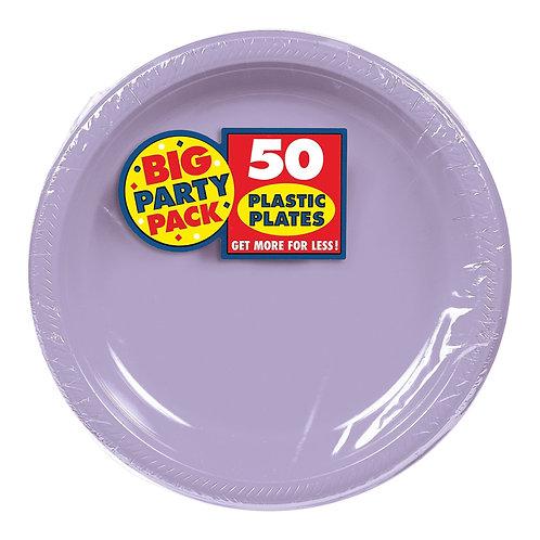 Lavender 7in Plastic Plates 50ct