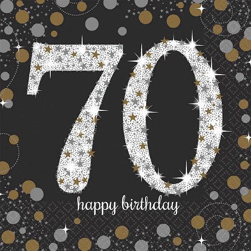 Sparkling Celebration 70 Lunch Napkins 16ct