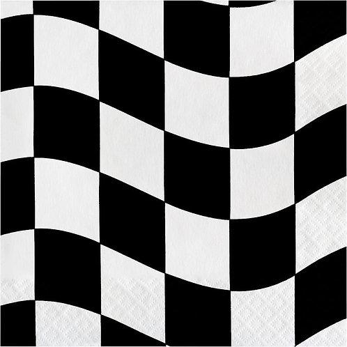 Black & White Check Lunch Napkins 16ct