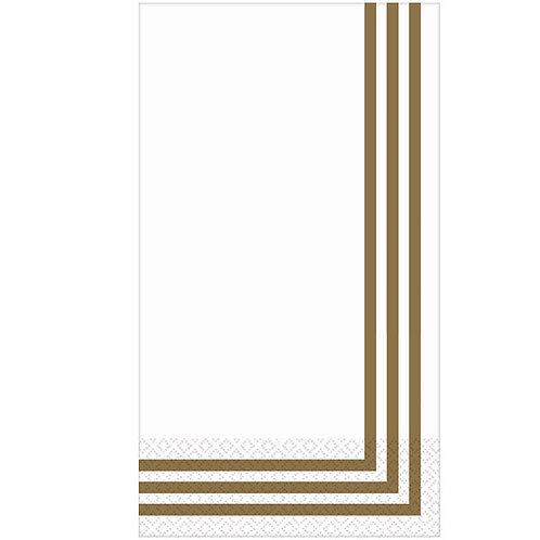 Classic Stripe Gold Premium Guest Towels 16ct