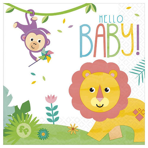 Fisher Price Hello Baby Lunch Napkins 16ct