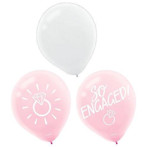 Blush Wedding Latex Balloons 15ct