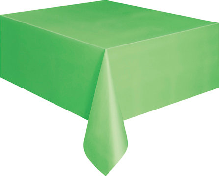 """Lime Green Rectangular Plastic Table Cover 54""""x108"""""""