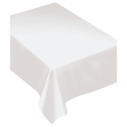 White Fabric Tablecloth
