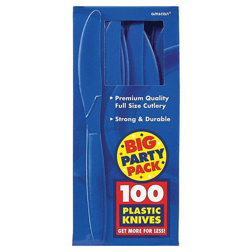 Royal Blue Value Plastic Knives 100ct